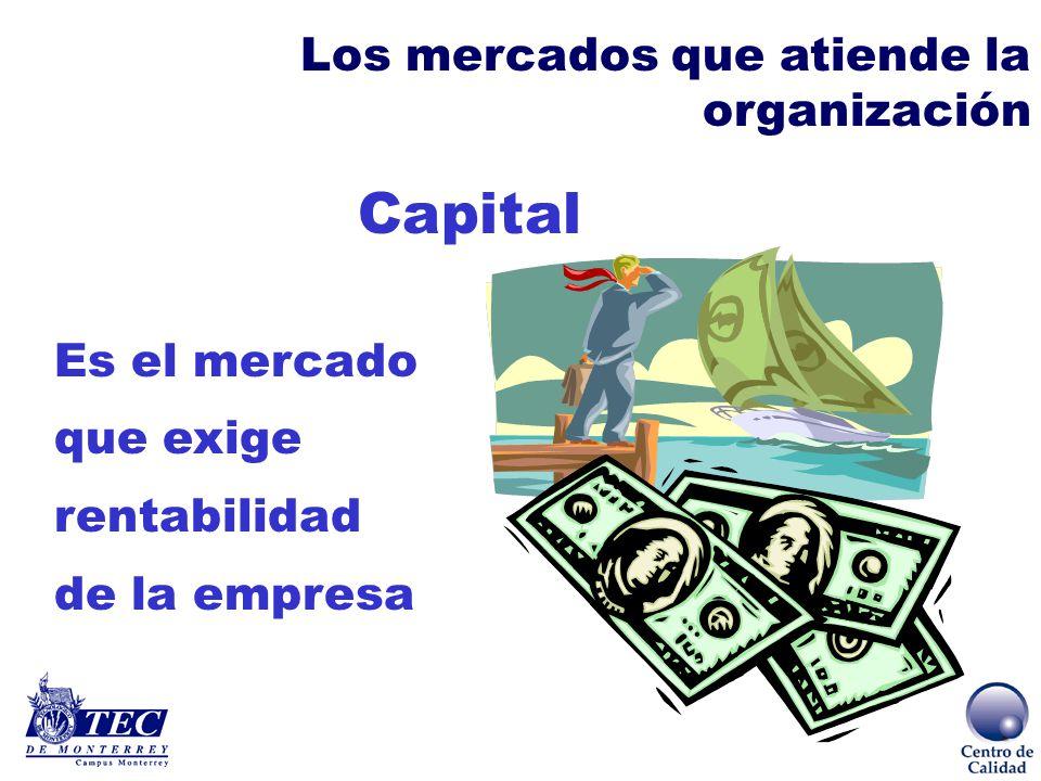 Laboral Es el mercado relevante para la calidad presente y futura Los mercados que atiende la organización
