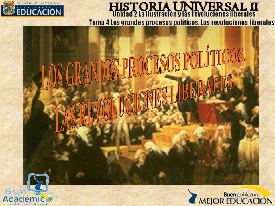 Grandes procesos políticos.Revoluciones liberales.