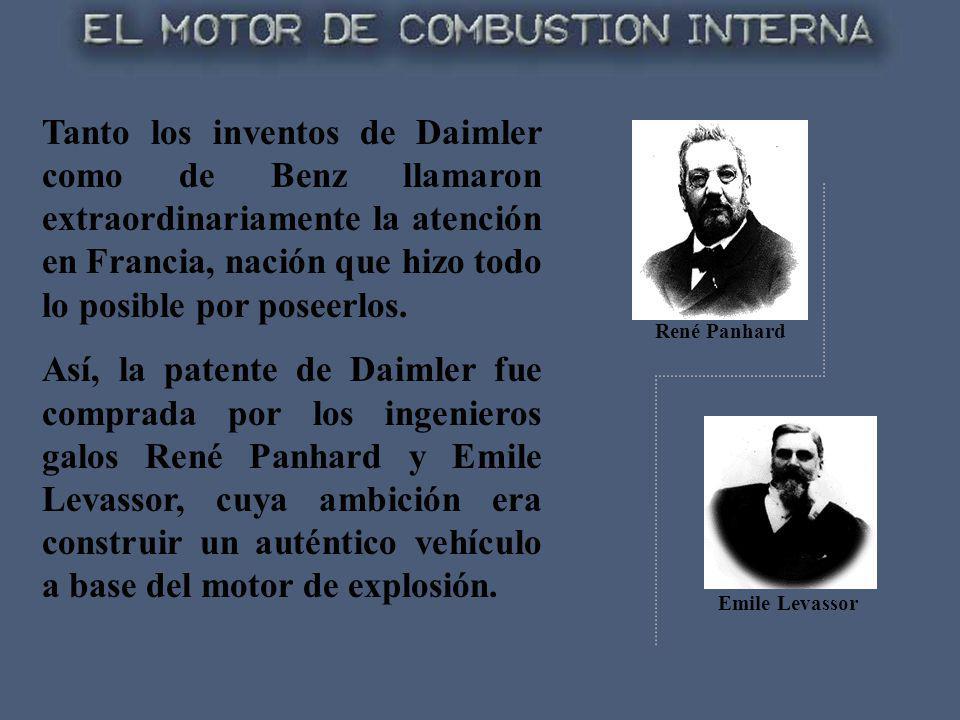 Tanto los inventos de Daimler como de Benz llamaron extraordinariamente la atención en Francia, nación que hizo todo lo posible por poseerlos. Así, la