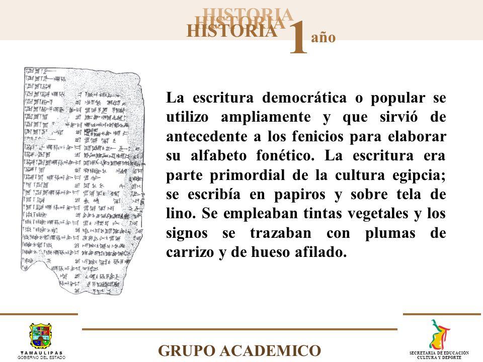 HISTORIA 1 año GRUPO ACADEMICO T A M A U L I P A S GOBIERNO DEL ESTADO SECRETARIA DE EDUCACIÓN CULTURA Y DEPORTE Durante la segunda mitad del siglo XIX, los arqueólogos Grotefend, Botta y Rawlinson descifraron la escritura cuneiforme.