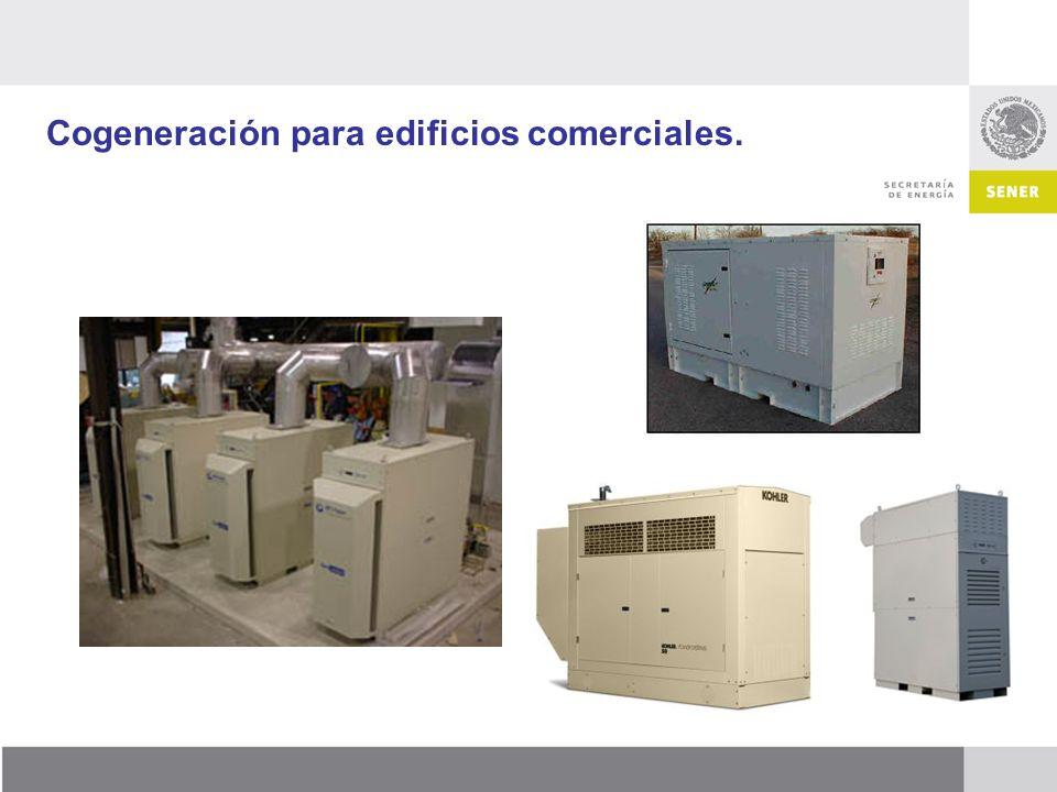 Cogeneración para edificios comerciales.