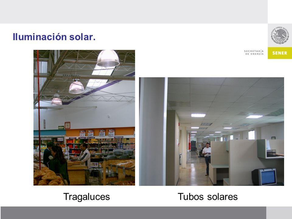 Iluminación solar. TragalucesTubos solares