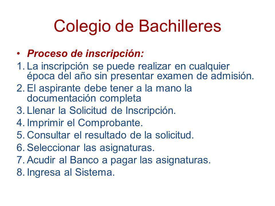 Colegio de Bachilleres Sistema de acreditación: La acreditación se realiza a través de centros de evaluación autorizados, en donde se pueden presentar los exámenes, con fines de certificación.