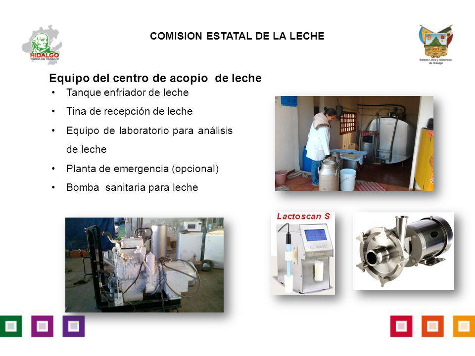 Tanque enfriador de leche Tina de recepción de leche Equipo de laboratorio para análisis de leche Planta de emergencia (opcional) Bomba sanitaria para