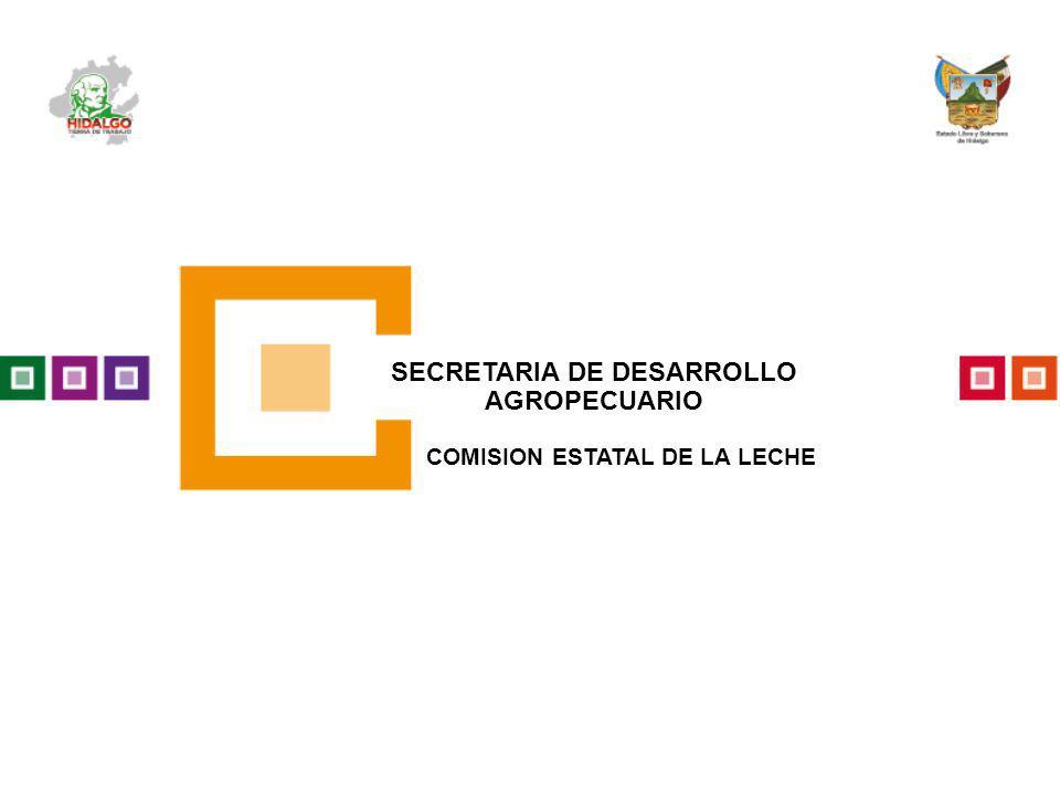SECRETARIA DE DESARROLLO AGROPECUARIO COMISION ESTATAL DE LA LECHE