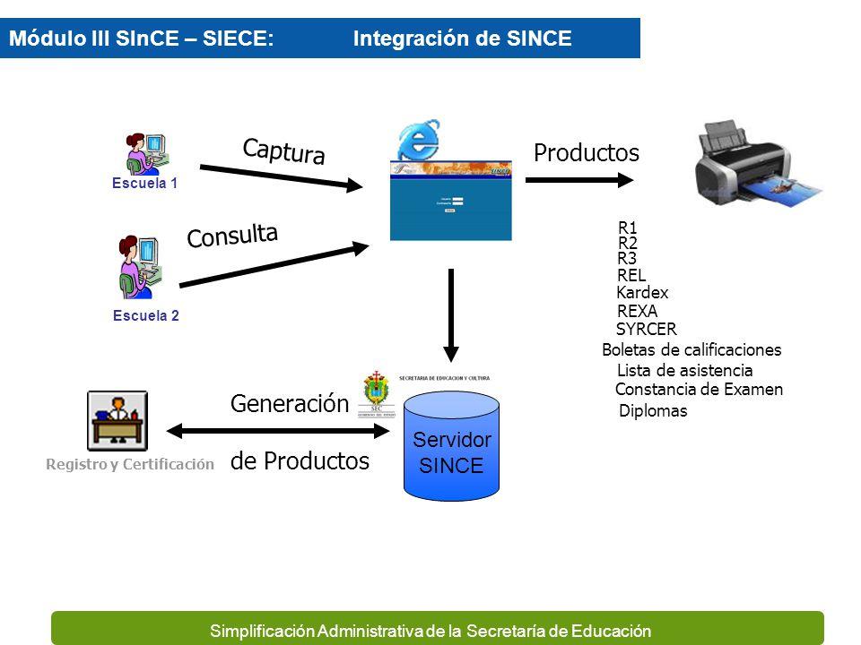 Simplificación Administrativa de la Secretaría de Educación TALLERES DE CAPACITACIÓN. (PLANTELES) CREACIÓN DE CLAVES PARA SINCE/SiECE INSTALACIÓN SINC
