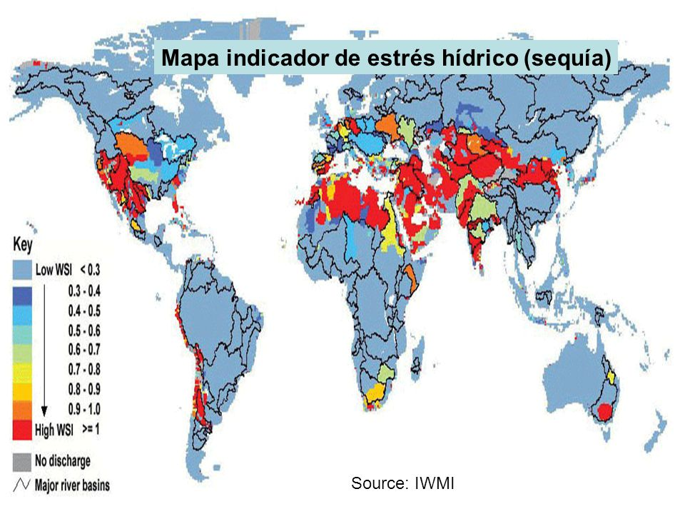 Source: IWMI Mapa indicador de estrés hídrico (sequía)