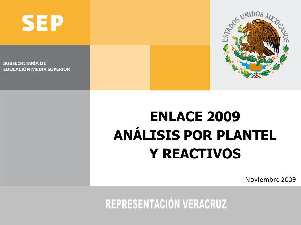 ENLACE 2009 ANÁLISIS POR PLANTEL Y REACTIVOS Noviembre 2009