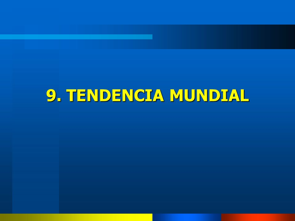9. TENDENCIA MUNDIAL