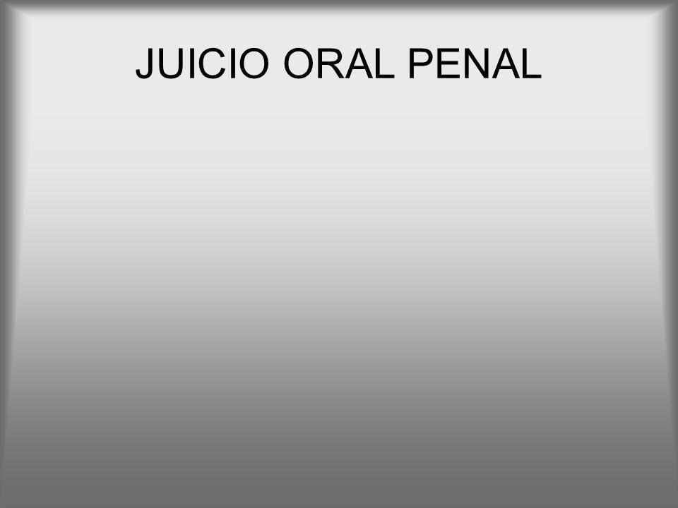 JUICIO ORAL PENAL