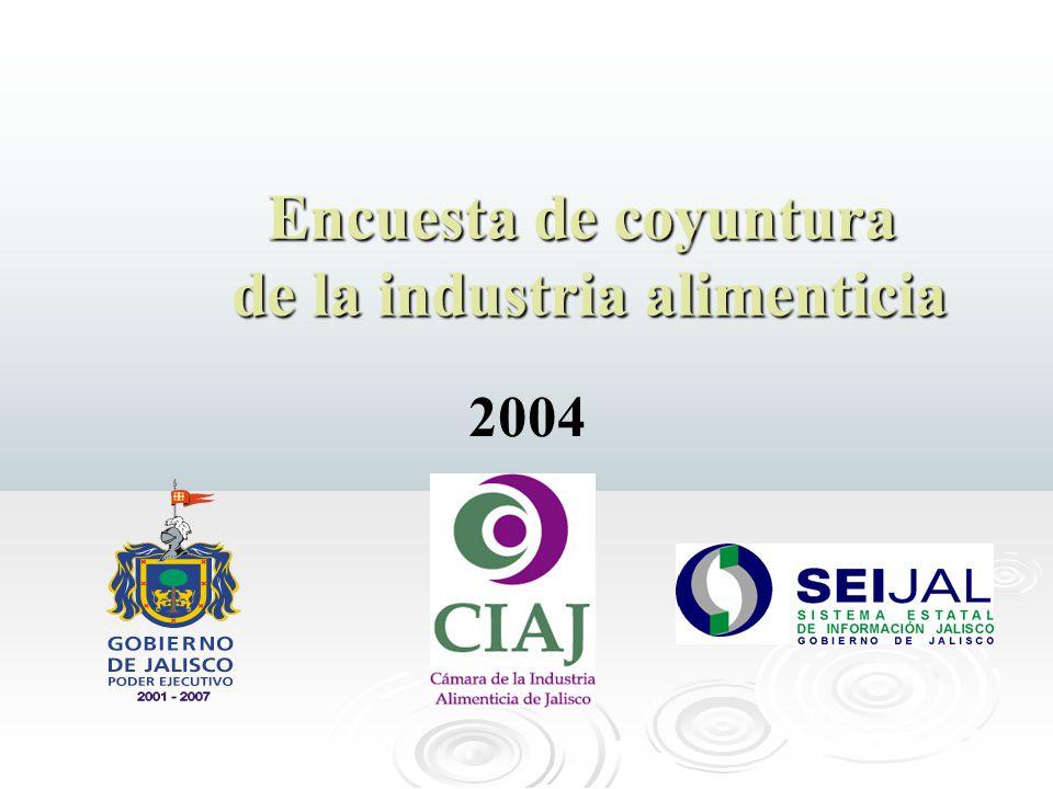 Encuesta de coyuntura de la industria alimenticia de la industria alimenticia 2004