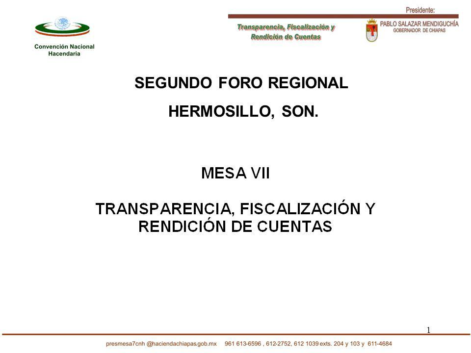 1 SEGUNDO FORO REGIONAL HERMOSILLO, SON.