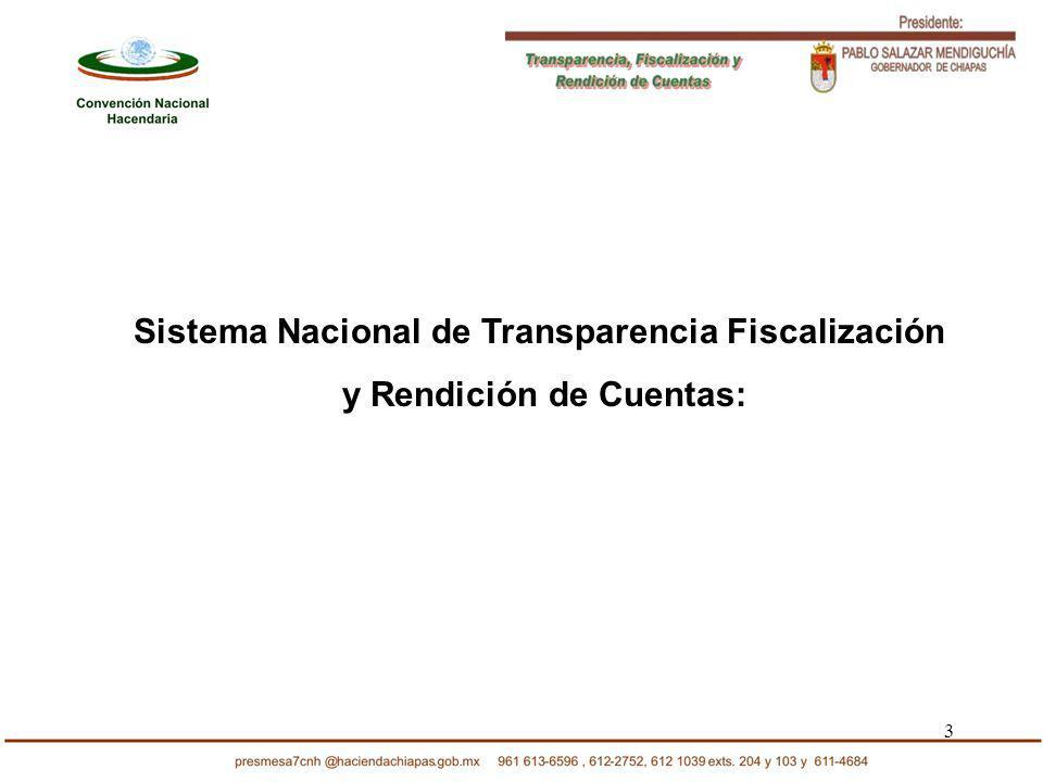 3 Sistema Nacional de Transparencia Fiscalización y Rendición de Cuentas: