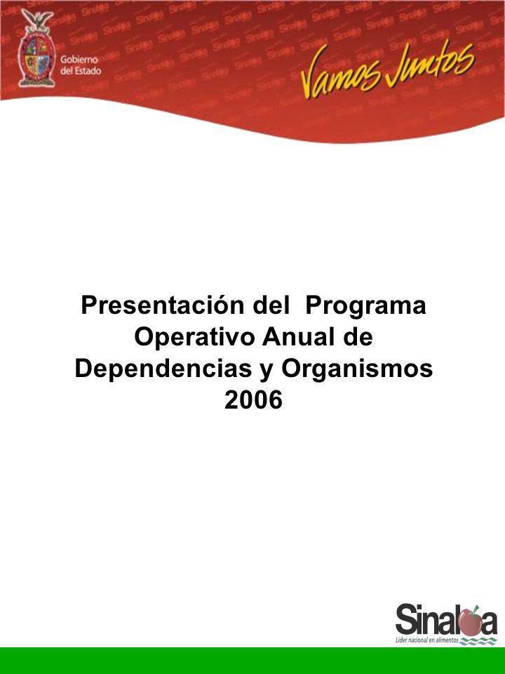 Presentación del Programa Operativo Anual de Dependencias y Organismos 2006