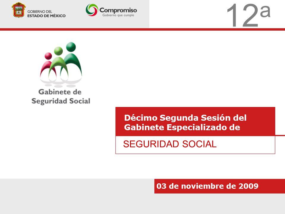 12 a Décimo Segunda Sesión del Gabinete Especializado de SEGURIDAD SOCIAL 03 de noviembre de 2009