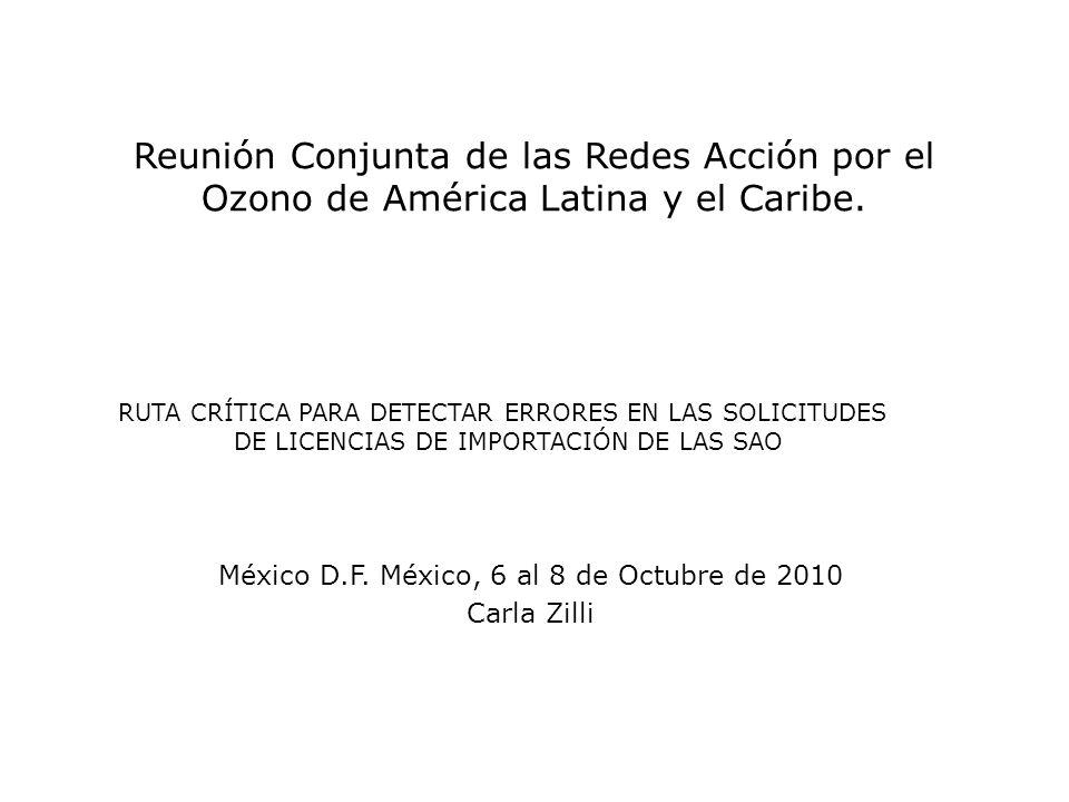 Reunión Conjunta de las Redes Acción por el Ozono de América Latina y el Caribe.
