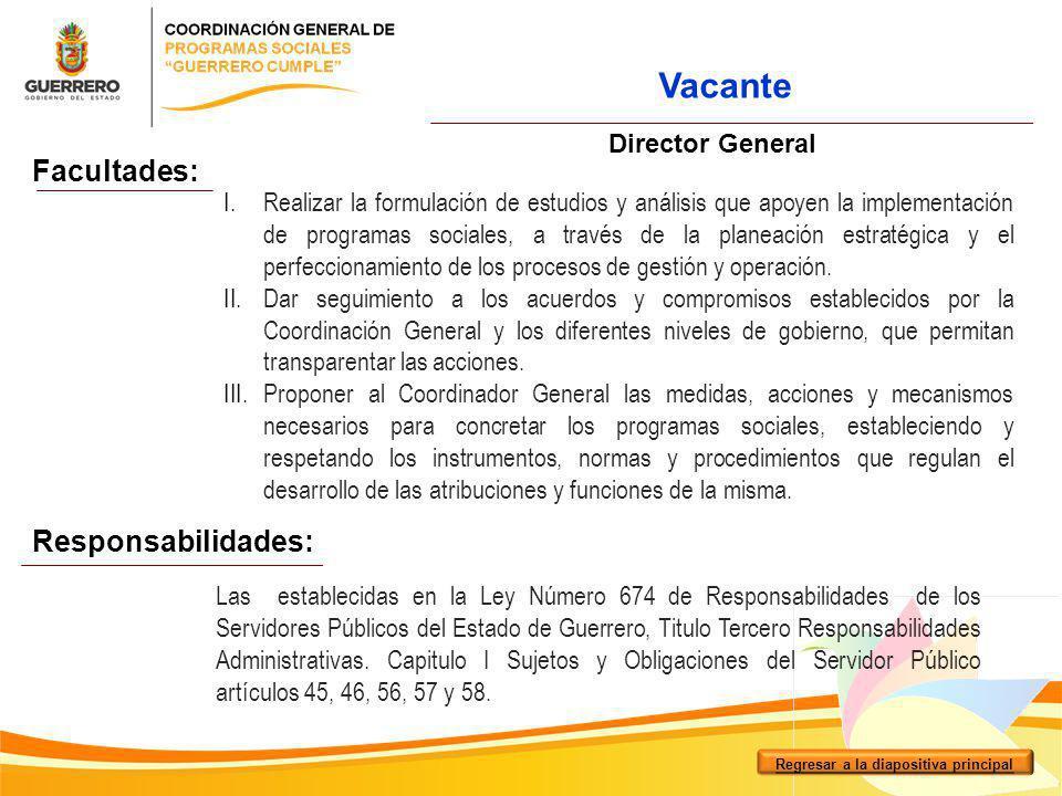 I.Coordinar y organizar al personal comisionado para la atención de los ciudadanos en los módulos instalados en los municipios de las 7 regiones del Estado.