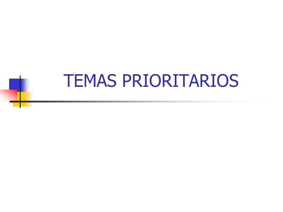 TEMAS PRIORITARIOS