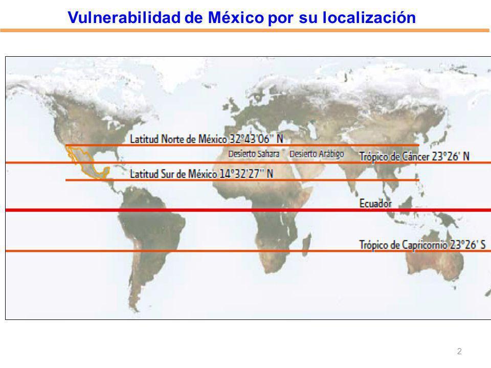 2 Vulnerabilidad de México por su localización