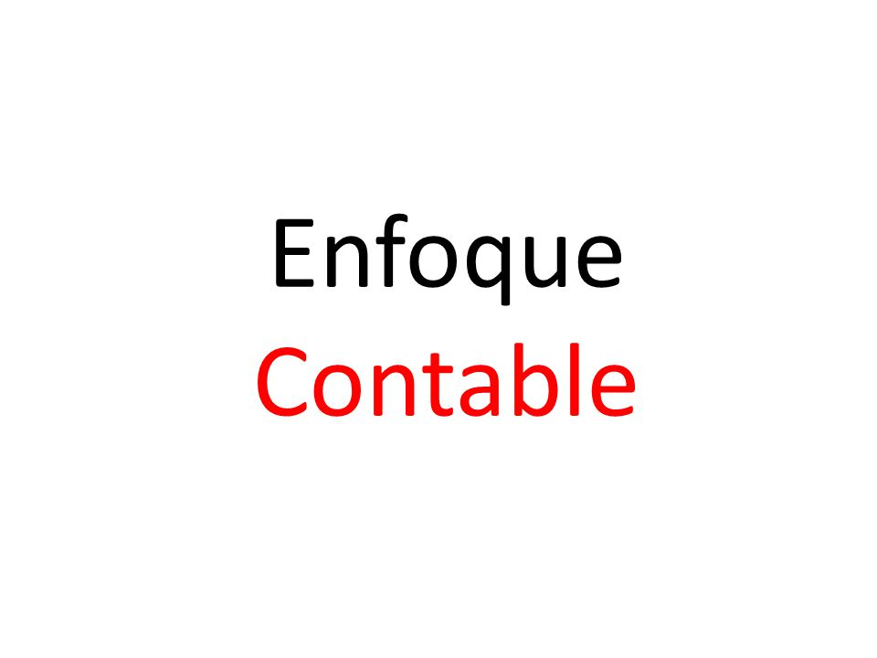 Enfoque Contable
