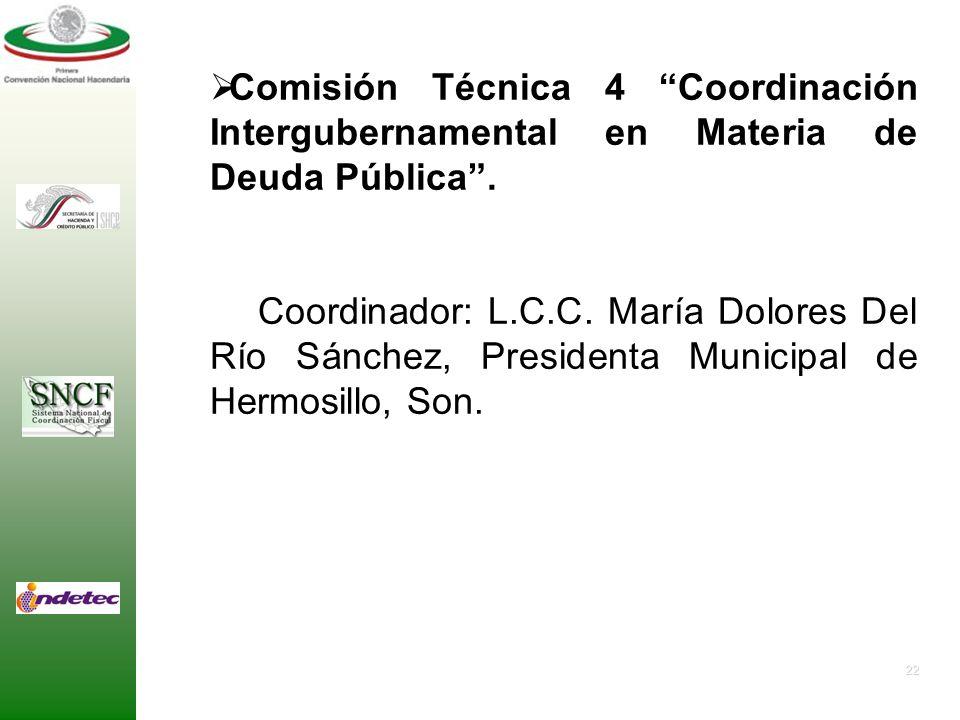 21 Comisión Técnica 3 Coordinación Intergubernamental en Materia de Gasto Público. - Coordinador: Dr. Gustavo Merino Juárez, Coordinador General de Pr