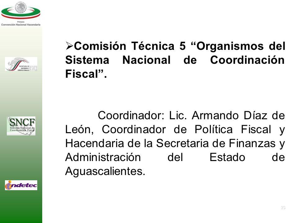 22 Comisión Técnica 4 Coordinación Intergubernamental en Materia de Deuda Pública. Coordinador: L.C.C. María Dolores Del Río Sánchez, Presidenta Munic
