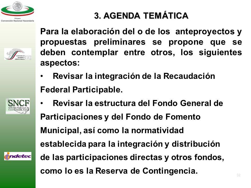 31 Proponer un nuevo marco de coordinación en materia de distribución de participaciones. Proponer un modelo de coparticipación de los tres órdenes de