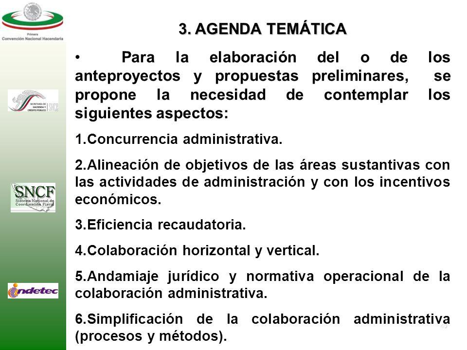 39 3. AGENDA TEMÁTICA Para la elaboración del o de los anteproyectos y propuestas preliminares, se propone la necesidad de contemplar los siguientes a