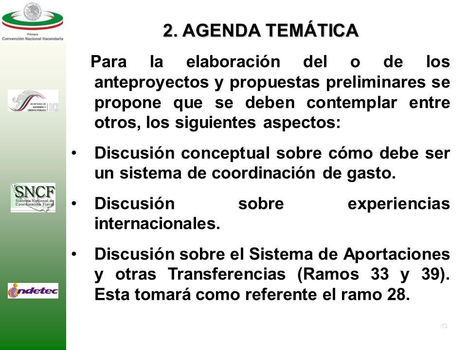 42 1. OBJETIVO GENERAL Generar una propuesta concreta, con sus alternativas, de un sistema de coordinación en materia de presupuesto y gasto, misma qu
