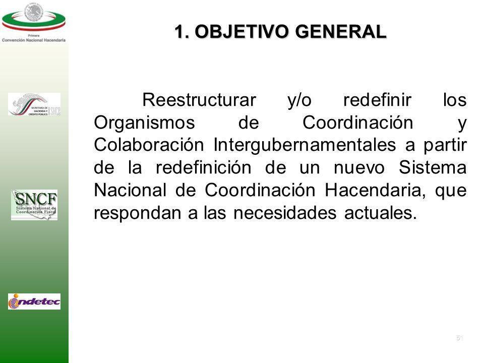 50 PROPUESTA DE PROGRAMA DE TRABAJO COMISIÓN TÉCNICA No. 5 ORGANISMOS DEL SISTEMA NACIONAL DE COORDINACIÓN FISCAL