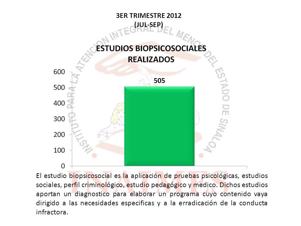 El estudio biopsicosocial es la aplicación de pruebas psicológicas, estudios sociales, perfil criminológico, estudio pedagógico y medico.