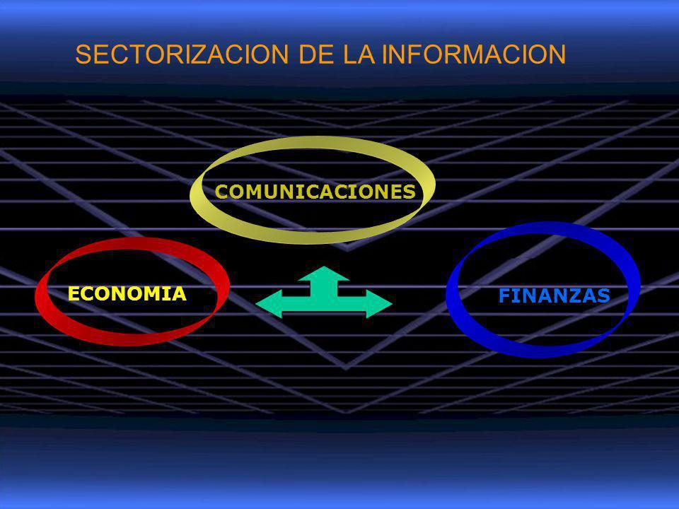 ECONOMIA FINANZAS COMUNICACIONES SECTORIZACION DE LA INFORMACION