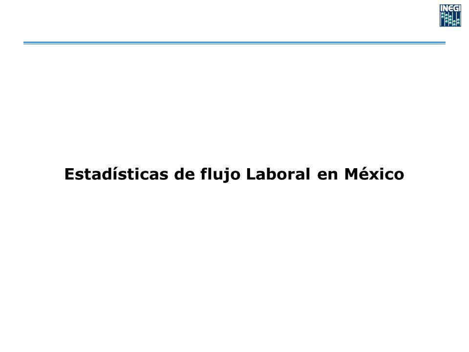 Estadísticas de flujo Laboral en México
