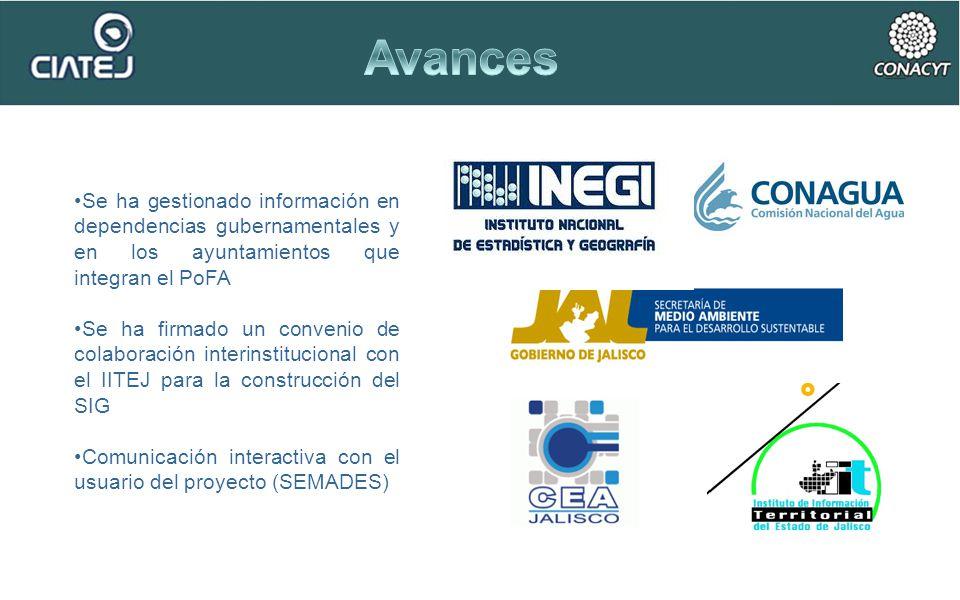 Se ha gestionado información en dependencias gubernamentales y en los ayuntamientos que integran el PoFA Se ha firmado un convenio de colaboración int