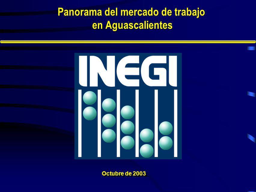Octubre de 2003 Panorama del mercado de trabajo en Aguascalientes en Aguascalientes
