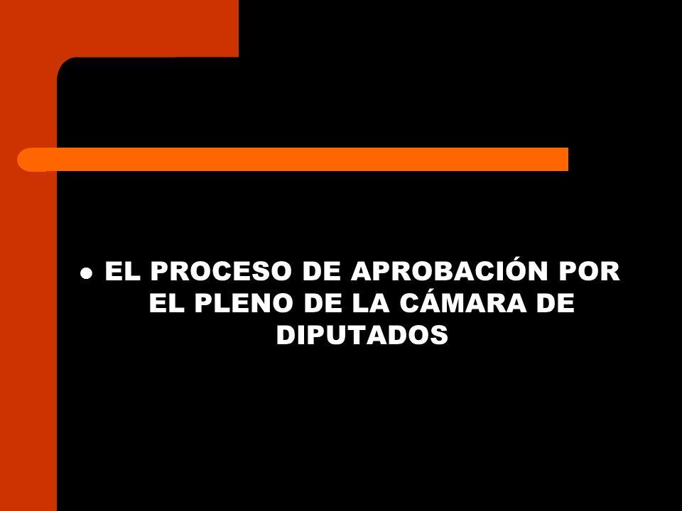 EL PROCESO DE APROBACIÓN POR EL PLENO DE LA CÁMARA DE DIPUTADOS
