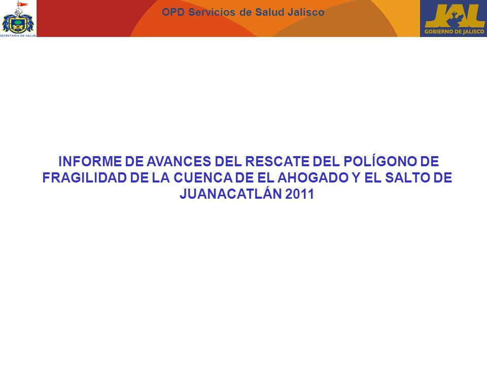 OPD Servicios de Salud Jalisco INFORME DE AVANCES DEL RESCATE DEL POLÍGONO DE FRAGILIDAD DE LA CUENCA DE EL AHOGADO Y EL SALTO DE JUANACATLÁN 2011