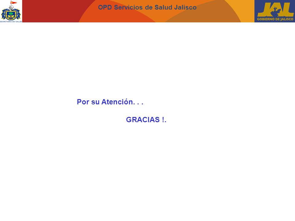 OPD Servicios de Salud Jalisco Por su Atención... GRACIAS !.