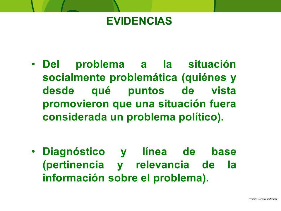 VÍCTOR MANUEL QUINTERO - Del problema a la situación socialmente problemática (quiénes y desde qué puntos de vista promovieron que una situación fuera