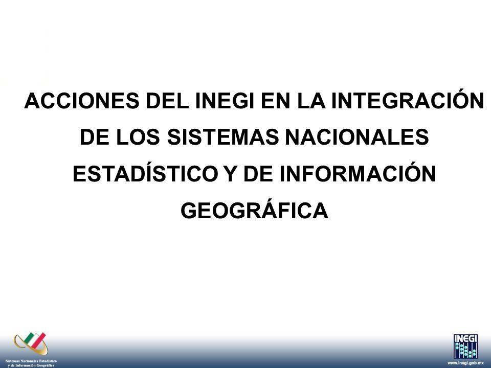 EL RETO Tecnológico Lograr la coordinación de todos los integrantes de los Sistemas Nacionales SNEIG