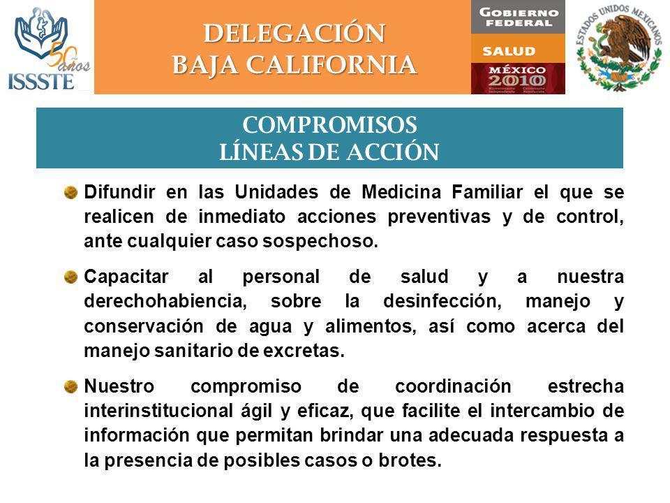 Difundir en las Unidades de Medicina Familiar el que se realicen de inmediato acciones preventivas y de control, ante cualquier caso sospechoso.