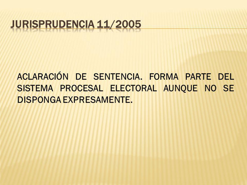 ACLARACIÓN DE SENTENCIA.