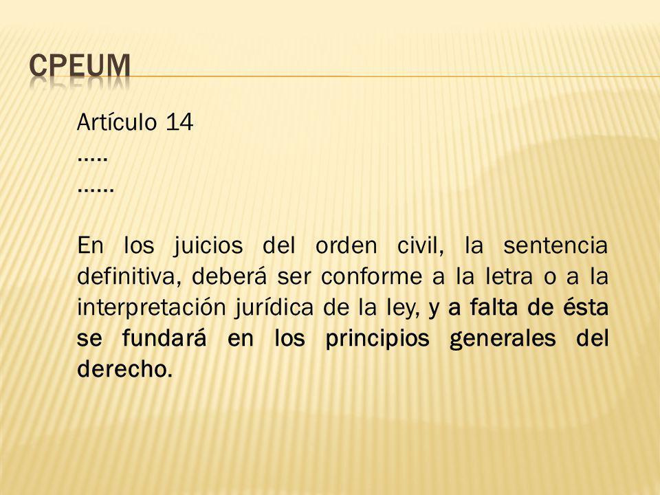 Artículo 14 …..