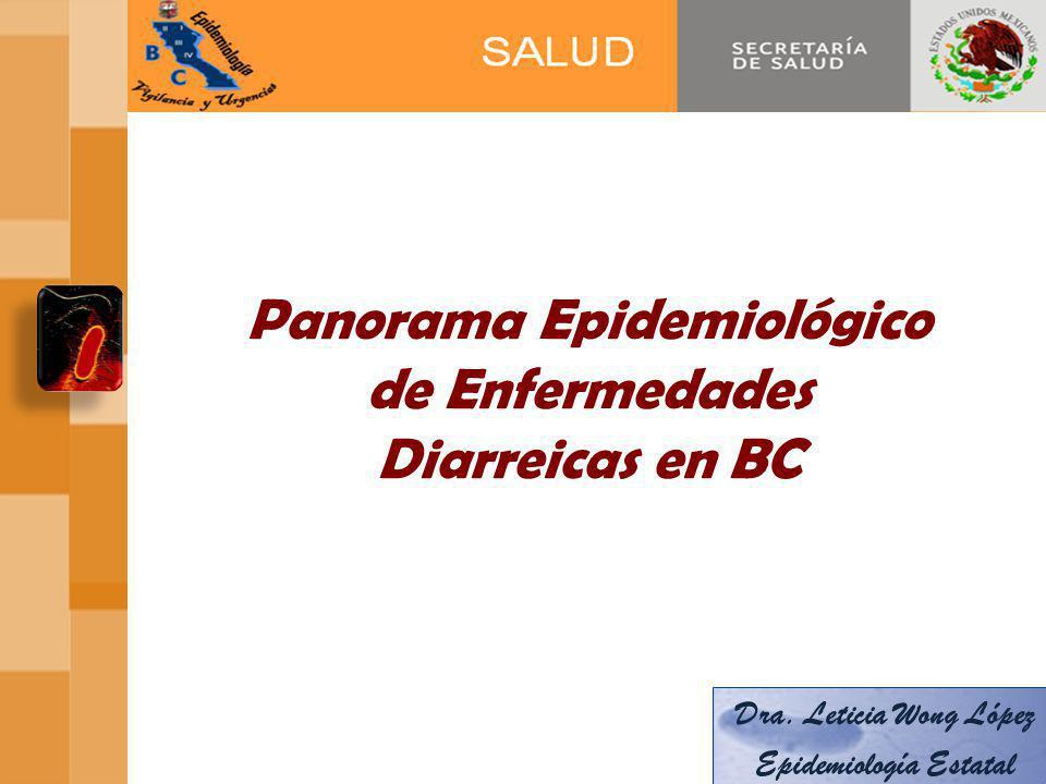 Panorama Epidemiológico de Enfermedades Diarreicas en BC Dra.