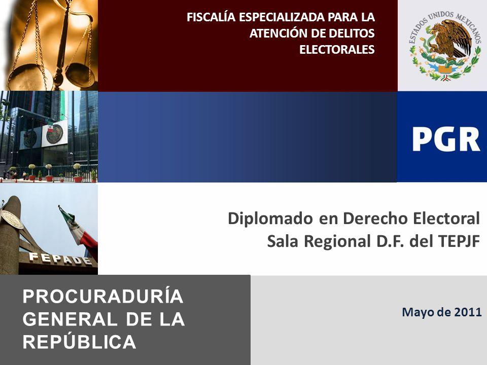 Mayo de 2011 FISCALÍA ESPECIALIZADA PARA LA ATENCIÓN DE DELITOS ELECTORALES PROCURADURÍA GENERAL DE LA REPÚBLICA Diplomado en Derecho Electoral Sala Regional D.F.