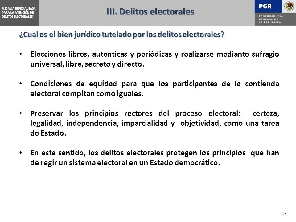 FISCALÍA ESPECIALIZADA PARA LA ATENCIÓN DE DELITOS ELECTORALES ¿Cual es el bien jurídico tutelado por los delitos electorales.