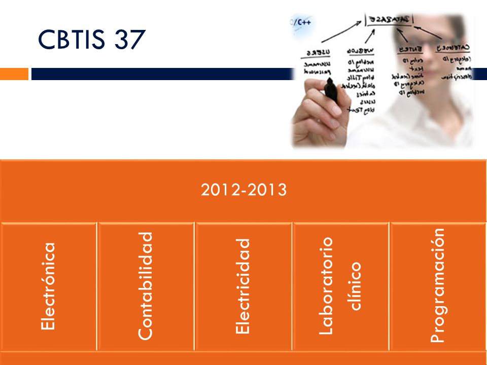 CBTIS 37 2012-2013 Electrónica Contabilidad Electricidad Laboratorio clínico Programación