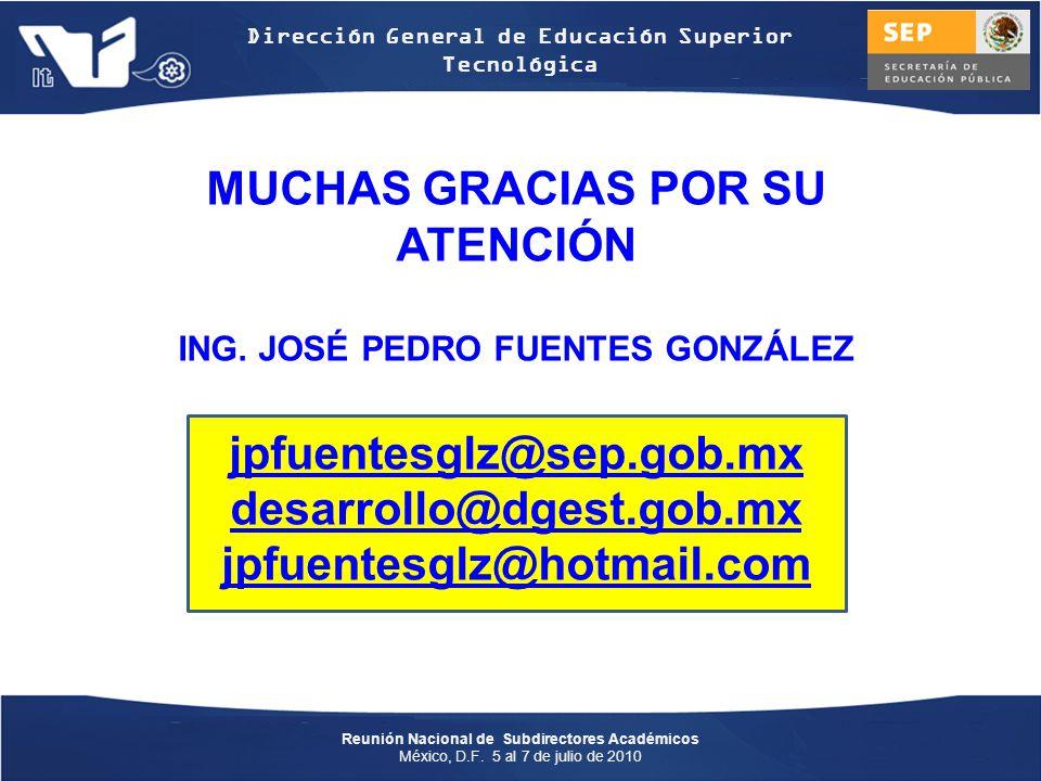 Reunión Nacional de Subdirectores Académicos México, D.F.
