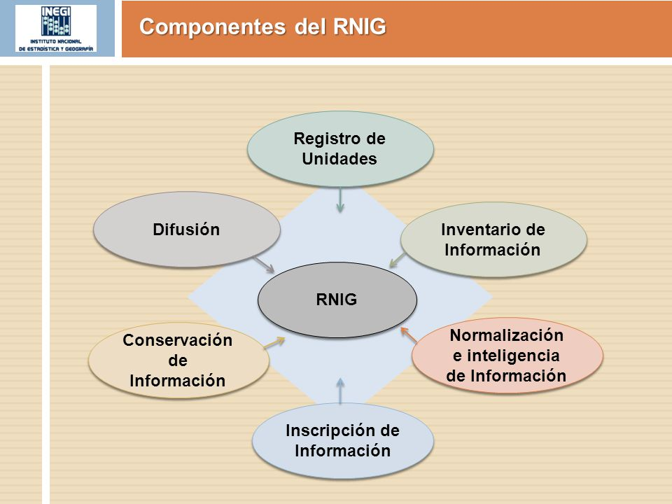 Inscripción de Información Conservación de Información Difusión Normalización e inteligencia de Información Inventario de Información Registro de Unid