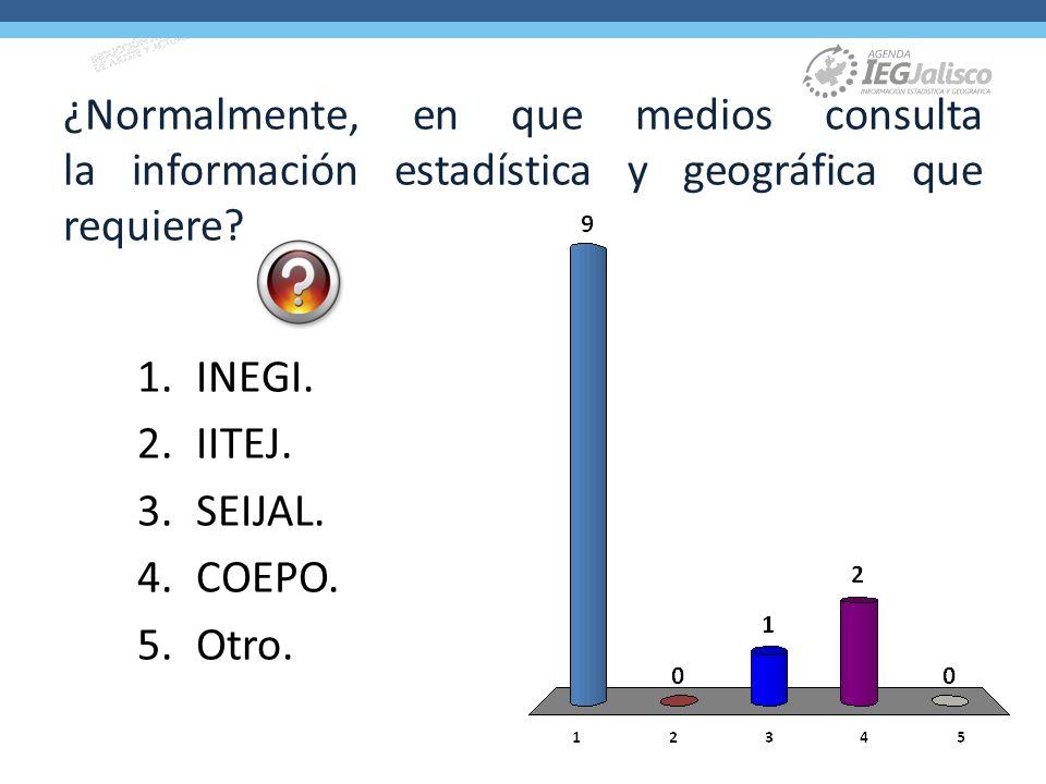 ¿Normalmente, en que medios consulta la información estadística y geográfica que requiere.